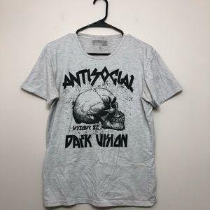 Antisocial Dark Vision graphic t shirt Sz M